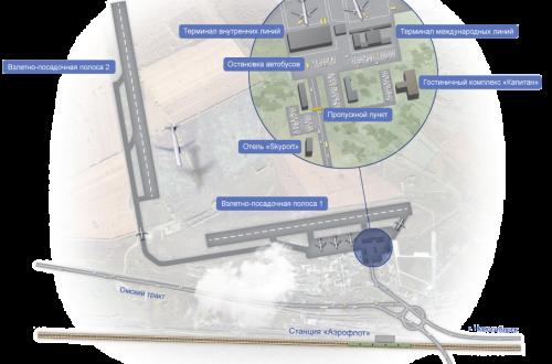 Карта где находится аэропорт толмачево